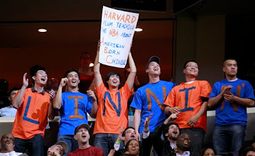 Photo: Fans cheer for New York Knicks point guard Jeremy Lin during the second half of an NBA basketball game against the Washington Wizards, Wednesday, Feb. 8, 2012, in Washington. The Knicks won 107-93. (AP Photo/Haraz N. Ghanbari)