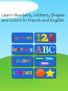 French and English Numbers Letters Shapes Colors- screenshot thumbnail