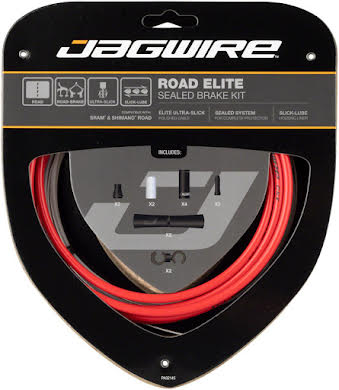 Jagwire Road Elite Sealed Brake Cable Kit SRAM/Shimano w/ Ultra-Slick Cables alternate image 1