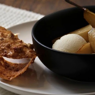Pecan Crisps With Sticky Pears