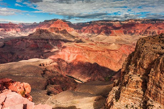 Photo: First view of the Colorado River, South Kaibab Trail down the South Rim of Grand Canyon National Park, Arizona, USA