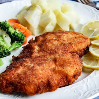Austrian Schnitzel (with Chicken).