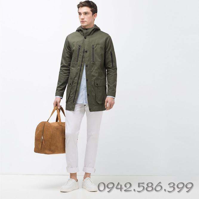 Áo khoác măng tô kaki hàng made in vietnam