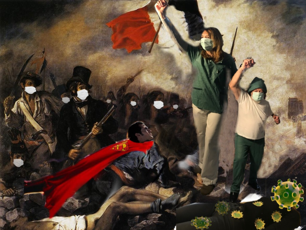 """Título: Los verdaderos héroes Obra del pintor Eugène Delacroix """"La libertad guiando al pueblo"""""""