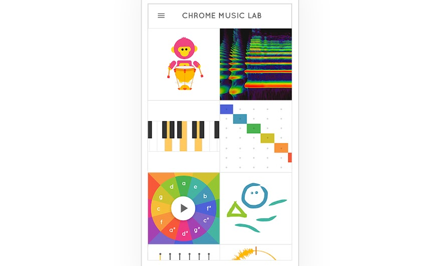 Chrome Music Lab by Google Creative Lab | Experiments with