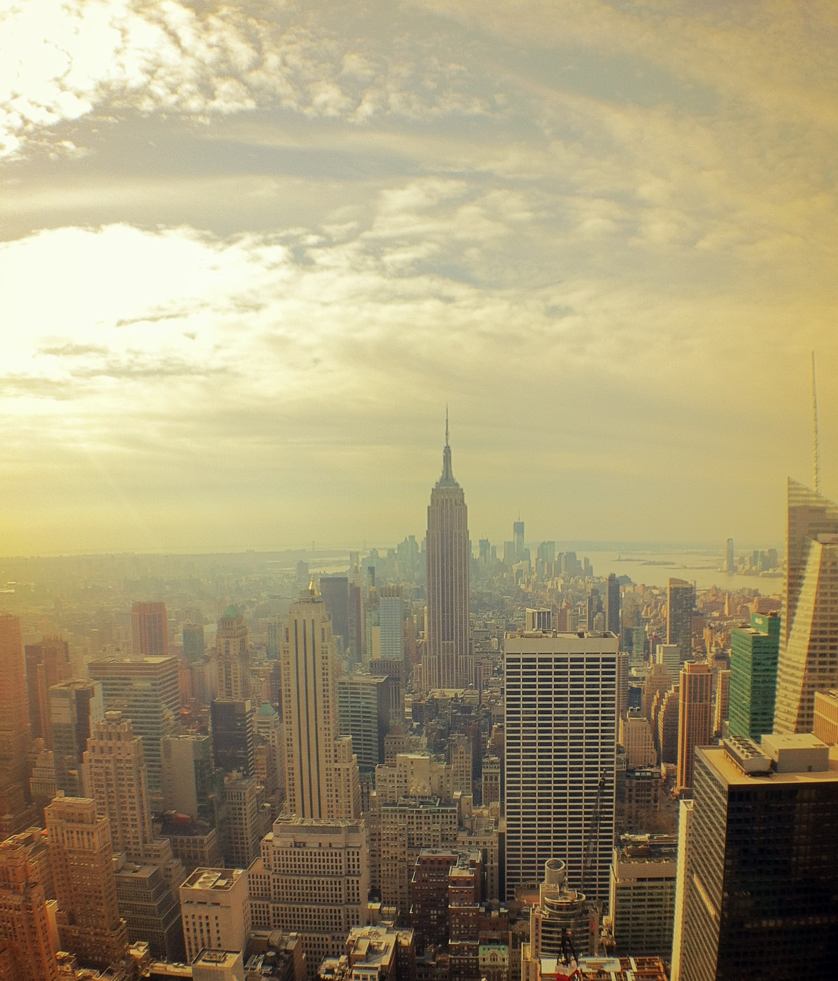 Photo: Downtown from Top of the Rock (Sun-blessed)