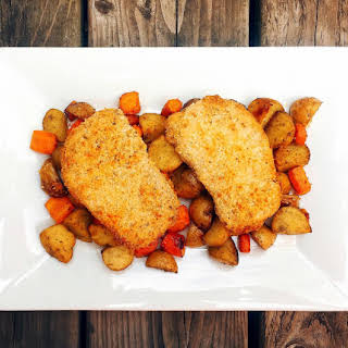 FODMAP Friendly Breaded Pork Chops.