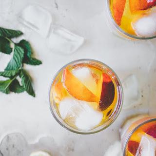 STONE FRUIT ICE TEA W/ LEMON & MINT