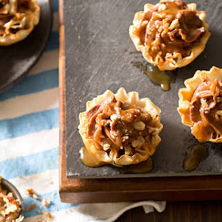 No Bake Turtle Cheesecake Phyllo Cups.