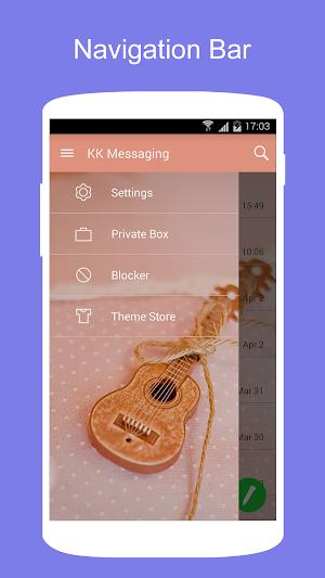 5 SMS KK (SMS/MMS, Lollipop SMS) App screenshot