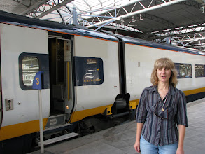 Photo: Arrive in Brussels, aboard the Eurostar.