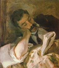 "Photo: John Singer Sargent, ""Uomo che legge"" (fine XIX- inizio XX sec.)"