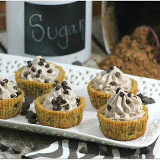 Mousse Filled Chocolate Chip Cookie Cups