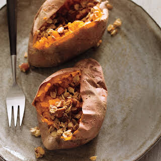Baked Sweet Potato with Maple-Oat Crumble.