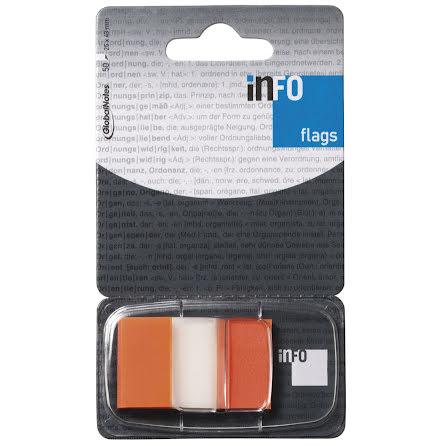 Märkflik Infoflags orange 50fp