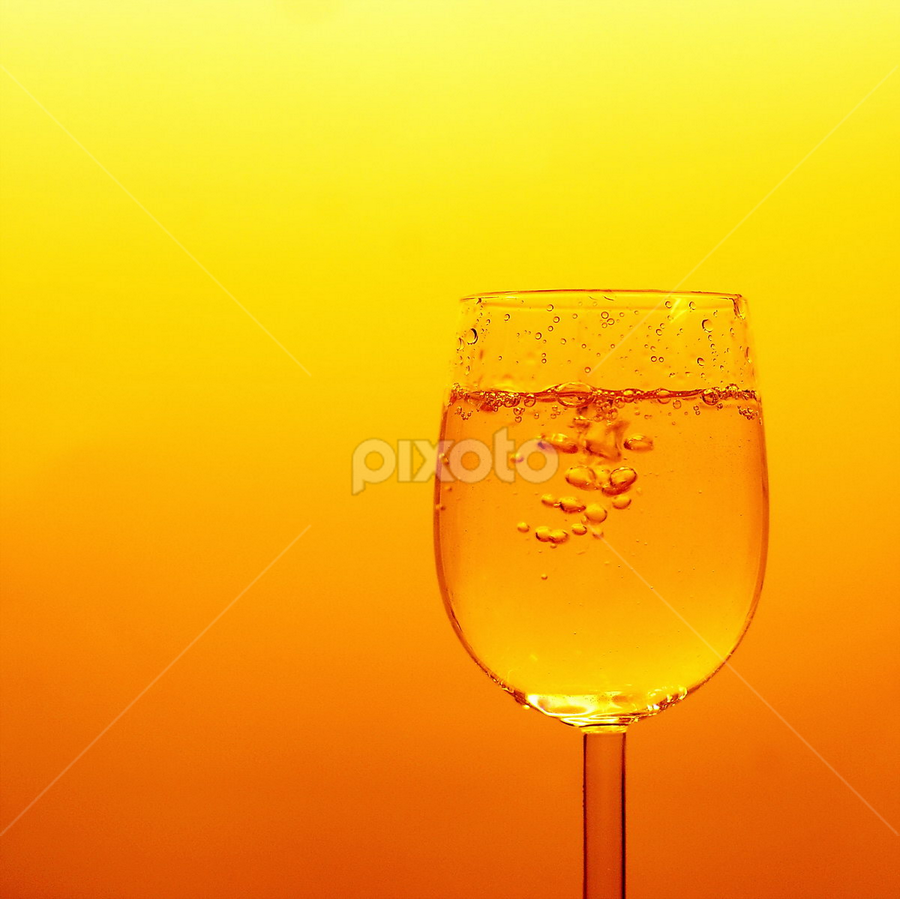 Filled with Gold by Ad Spruijt - Artistic Objects Glass ( champagne glasses, glass )