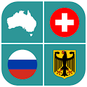 Geography Quiz - flags, maps & coats of arms icon