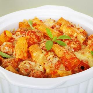 Italian Baked Ziti and Meatball Casserole
