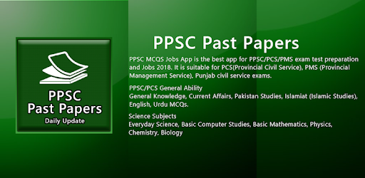 PPSC Past Papers NTS PMS FPSC CSS Test Preparation - Apps on