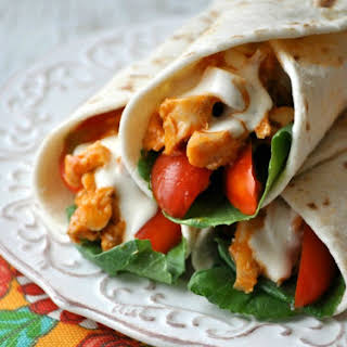 Spencer's 5-Minute Buffalo Chicken Wraps.