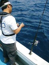 Photo: サシカタさんも!  あっ! バレた。 魚の姿は見えました。 ヤガラでした。