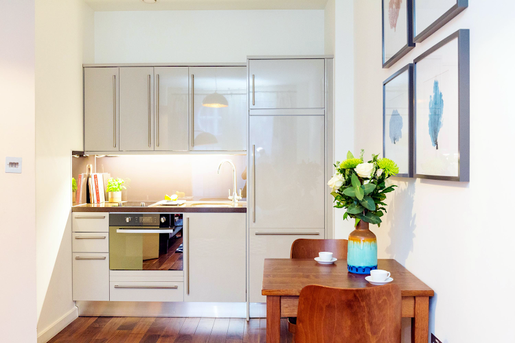 Fully equipped kitchen at Monument - Lovat Lane Apartments