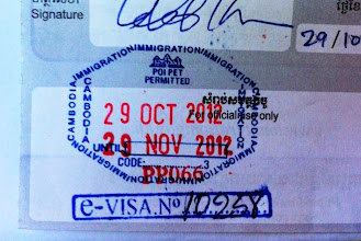 Photo: Entry stamp into Cambodia.