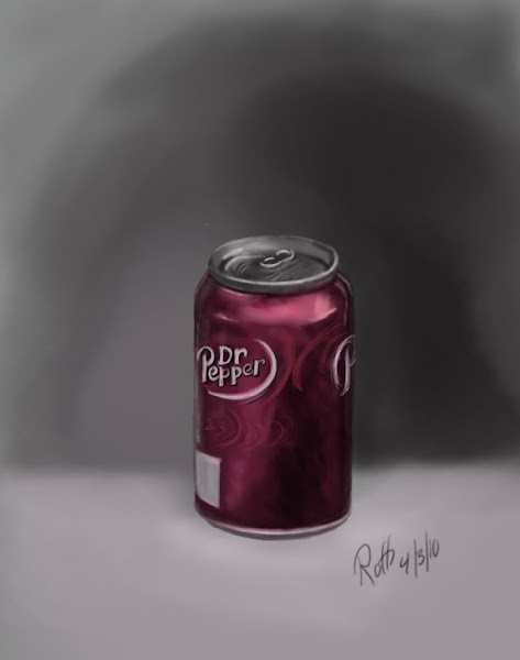 Photo: This is another piece from my FB archive. This was my first attempt at doing a fully rendered painting entirely in Sketch Book Pro. I painted it from a reference can I had on my desk. The only thing I don't care for on it is the perspective of the base is arguing with the perspective of the top.