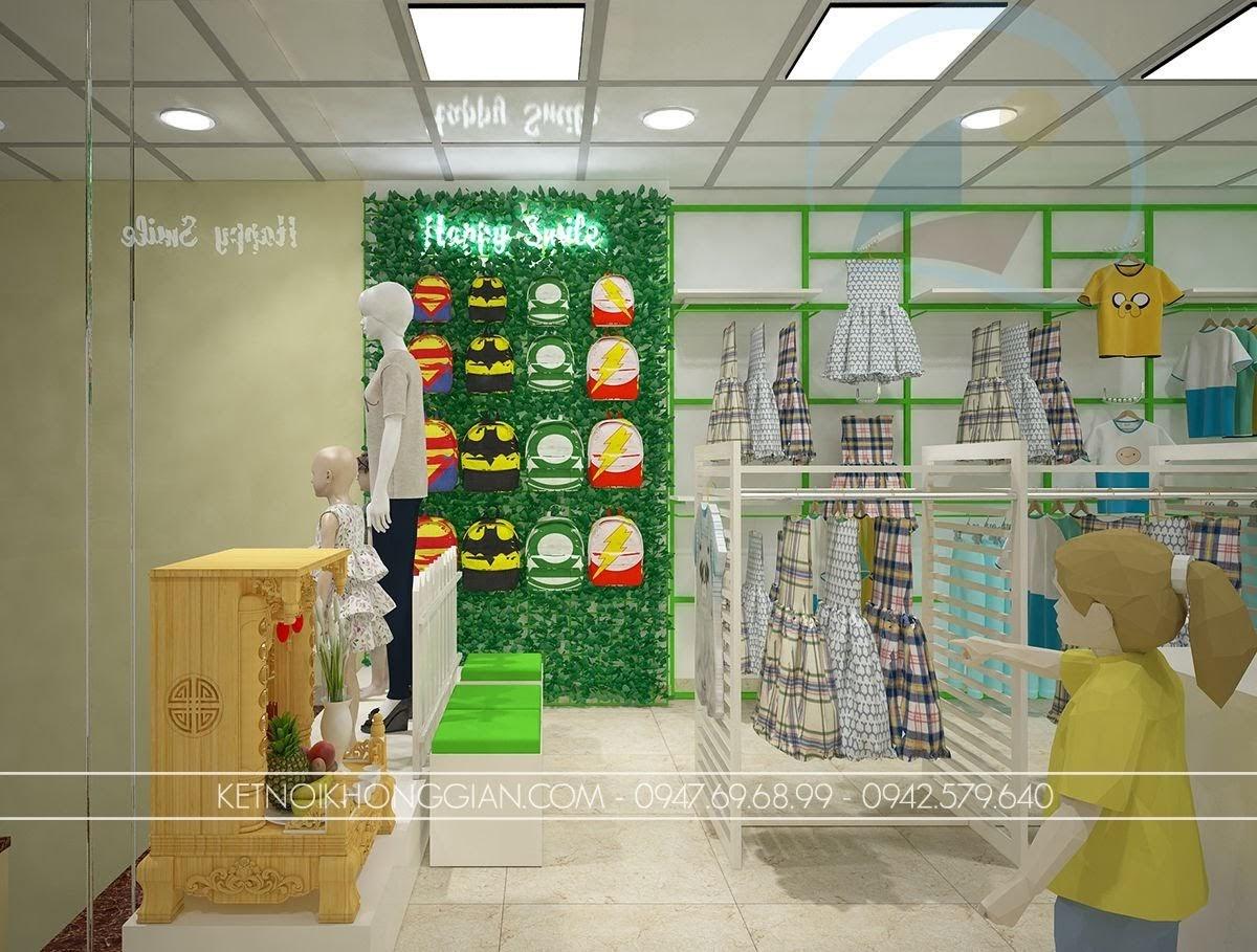 thiết kế shop thời trang trẻ em chất lượng cao