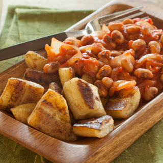 Black-Eyed Peas and Tomatoes with Bananas Recipe