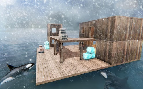 Survival Ocean Raft - Winter Story PRO Screenshot