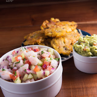 Ancestral Table's Shrimp Ceviche with Tostones