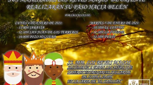 Los Reyes Magos visitarán todas las pedanías de Pulpí para evitar aglomeraciones