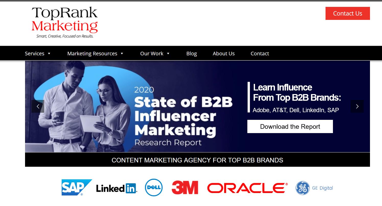 Top Rank Marketing. Top influencer marketing agency 2021