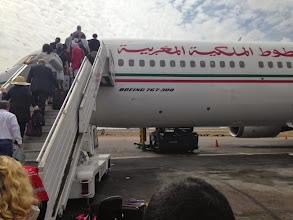 Photo: Boarding en route to America