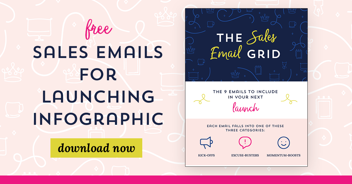 Sales Email Infographic from Your Content Empire #YourContentEmpire