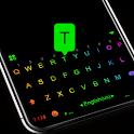 Led Neon Black Keyboard Theme icon