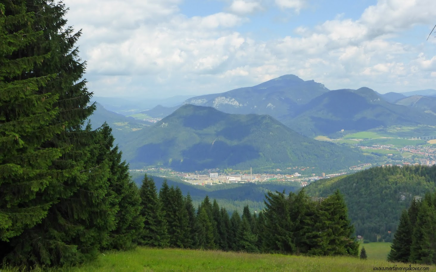 View north from Malino Brdo, Slovakia