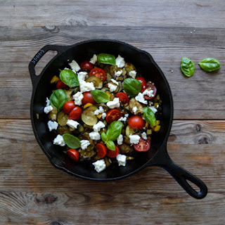 Mediterranean Roast Vegetables with Tomatoes, Feta and Basil