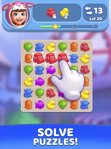 Fun Town: Build theme parks & play match 3 games screenshots 17