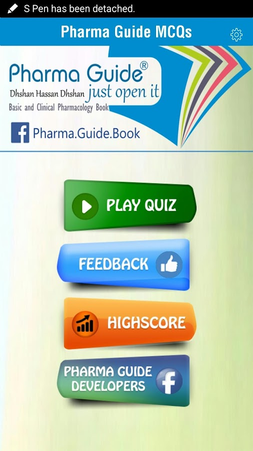 Pharma Guide MCQs- screenshot