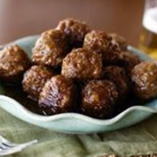 Sweet and Spicy Meatballs.
