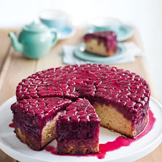 Raspberry And Almond Upside-down Cake