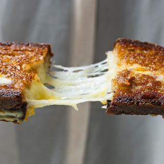 Cheddar and Gruyère Grilled Cheese Sandwiches