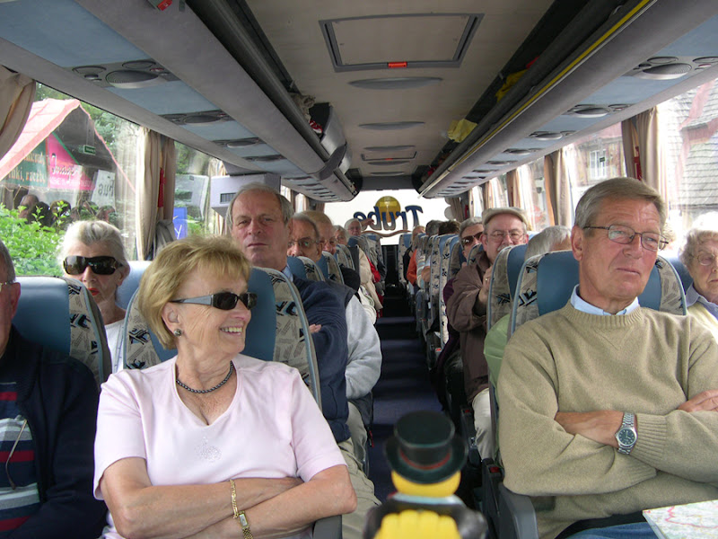 Photo: insdie my bus with my travel companions, ready for a tour to the sniezka mountain