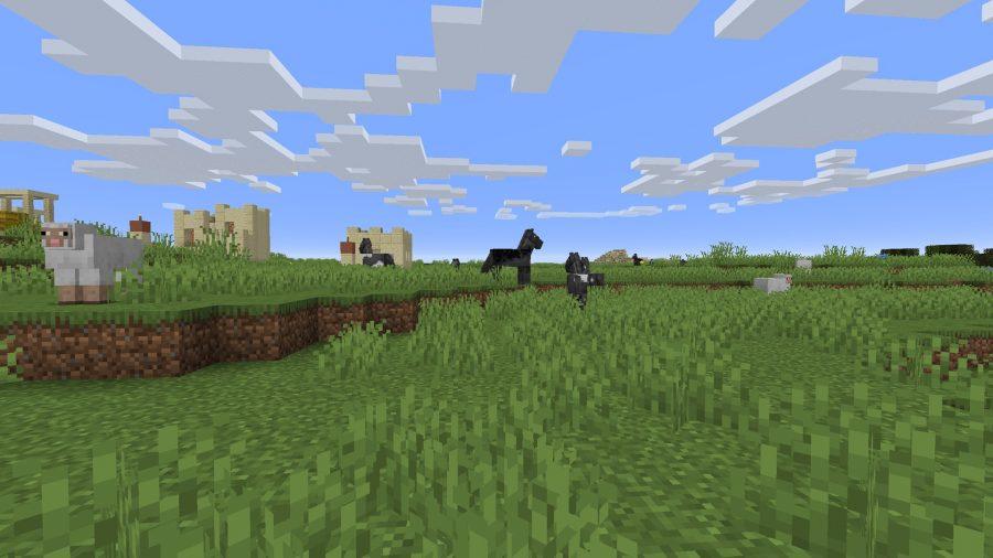 minecraft ponies and Desert Village