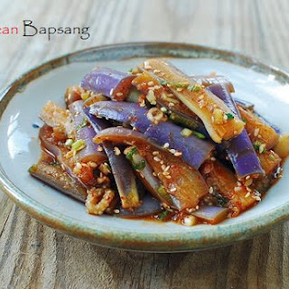 Gaji Namul (Steamed Eggplant Side Dish)