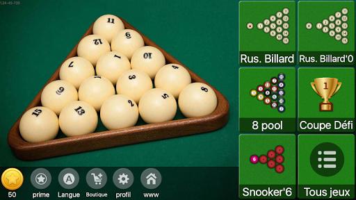 Billard russe - pyramide, 8 pool, snooker  captures d'u00e9cran 1