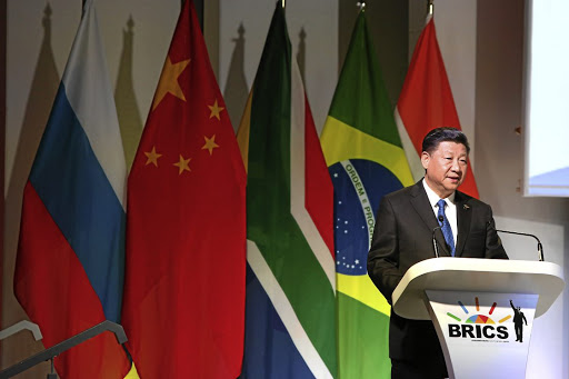 China's President Xi Jinping during the opening of the Brics Summit in Sandton, Johannesburg. The writer argues South Africa ought to exercise caution when accepting aid from China.