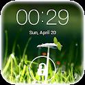Spring live wallpaper lock icon